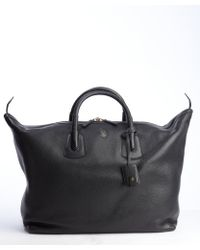 Gucci Black Grained Leather Carry On Bag - Lyst