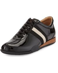 Bally Frenz Patent Leather Sneaker - Lyst