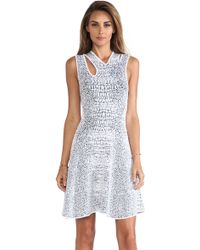 McQ by Alexander McQueen Cocodile Body Con Dress - Lyst