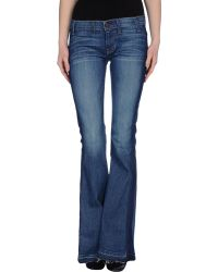 Textile Elizabeth And James Wide & Flare-Leg Denim Pants - Lyst