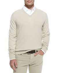 Loro Piana Baby Cashmere V-Neck Sweater - Lyst