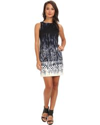 Vince Camuto Sleeveless Ombre Printed Ponte Dress - Lyst