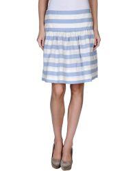 Very Gotha Knee Length Skirt - Lyst