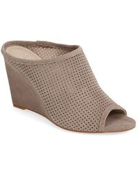Seychelles Women'S 'Perfect Match' Perforated Suede Mule - Lyst