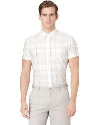 Calvin Klein Modern Fit Plaid Sport Shirt - Lyst