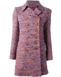 Christian Lacroix Double Breasted Coat - Lyst