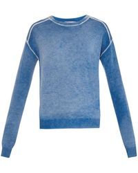 Vanessa Bruno Caméléon Wool And Cashmere-Blend Sweater - Lyst