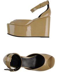 Celine Beige Sandals - Lyst