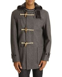 Gloverall Mid-Length Grey Monty Duffle Coat - Lyst