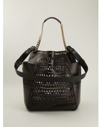 Jimmy Choo B Perforated Tote - Lyst