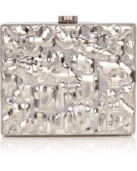 Coast Crinkle Metal Box Clutch - Lyst