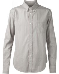 Band Of Outsiders Gray Classic Shirt - Lyst
