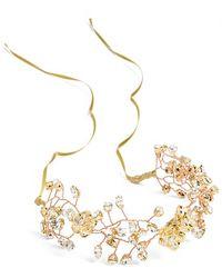 Nestina Accessories - Crystal Vine Bridal Head Piece - Metallic - Lyst