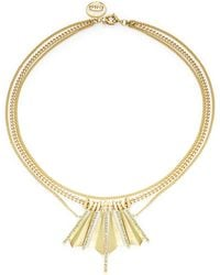 Giles & Brother - Tiered Bar Accented Necklace - Lyst