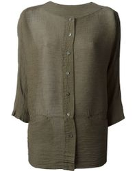 Issey Miyake Loose Fit Shirt - Lyst