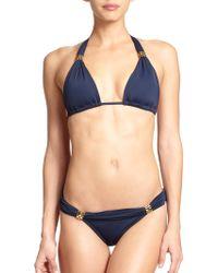 ViX Solid Bia Bikini Top blue - Lyst
