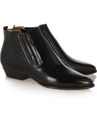 Isabel Marant Presley Glossed-leather Ankle Boots - Lyst