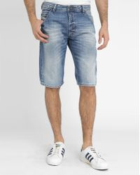 Diesel Light Denim Cro Short Bermuda Shorts blue - Lyst
