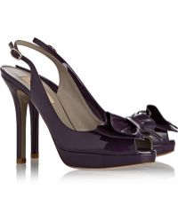 Valentino Patent-Leather Slingback Pumps - Lyst