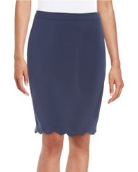 Cece by Cynthia Steffe - Scallop Hem Pencil Skirt - Lyst