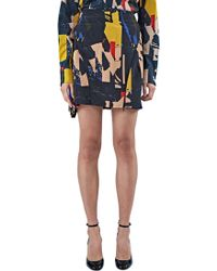 Capara - Women's Inkjet Printed Silk Mini Skirt 33 In Black - Lyst