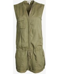 Joie Sleeveless Military Romper - Lyst
