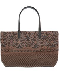 Yarnz - Brown Flowers and Lace Leather Bag - Lyst