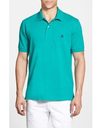 Brooks Brothers Cotton-Piqué Polo Shirt green - Lyst