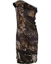 Lanvin Brown Knee-length Dress - Lyst