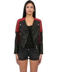 Eleven Paris Leather Moto Jacket - Lyst