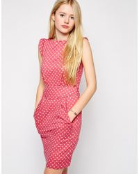 Emily and Fin - Emily & Fin Printed Shift Dress - Lyst