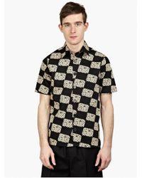 Raf Simons Men'S Black Printed Cotton Shirt black - Lyst
