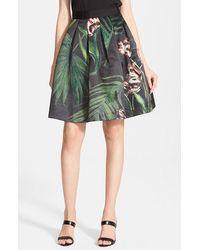Ted Baker Women'S 'Palm Flora' A-Line Skirt - Lyst