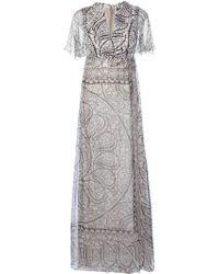 Giambattista Valli Paisley Print Maxi Dress - Lyst