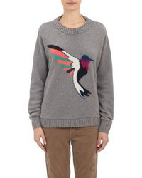 The Elder Statesman Intarsia Hummingbird Pullover Sweater - Lyst