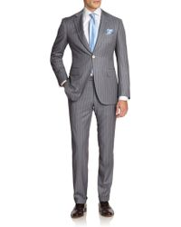 Canali Pinstriped Wool Suit - Lyst