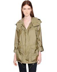 Burberry Brit Hooded Nylon Windbreaker Jacket - Lyst