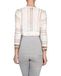 Just Cavalli White Cardigan - Lyst
