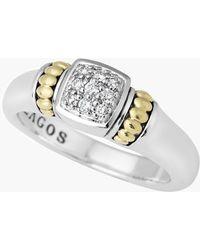 Lagos Caviar Diamond Ring silver - Lyst