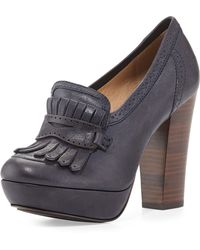 Frye Naiya Leather Loafer Pump - Lyst