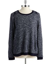 Two By Vince Camuto Blue Heathered Sweater - Lyst