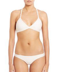 Mikoh Swimwear | Nusa Dua Macrame Racerback Bikini Top | Lyst