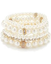 Forever 21 - Faux Pearl Bracelet Set - Lyst