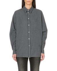 Acne Studios Jetson Oversized Denim Shirt - Lyst