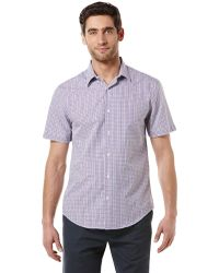 Perry Ellis Modern Fit Gingham Plaid Sport Shirt - Lyst