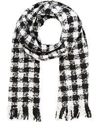 Barneys New York | Checked Basket-weave Scarf | Lyst