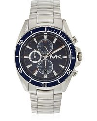 Michael Kors Jetmaster 45mm Stainless Steel Watch - Lyst