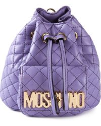 Moschino Mini Logo Bucket Backpack - Lyst