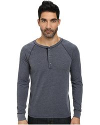 AG Adriano Goldschmied Commute Rag Henley blue - Lyst