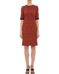 Emanuel Ungaro Dripping Chevron Print Short Sleeve Dress - Lyst